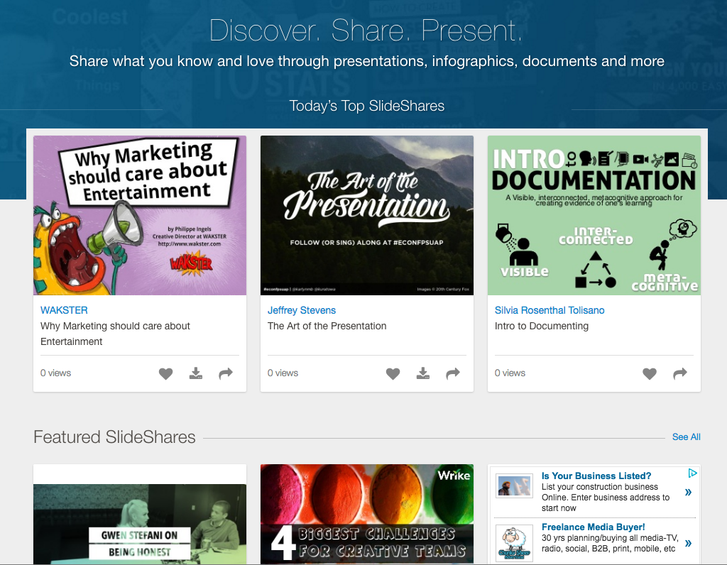 SlideShare Linkedin Free Presentation