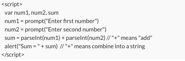 javascript code snip